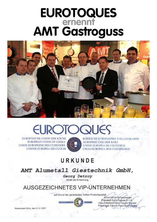 AMT Gastroguss - Partner der Profiköche