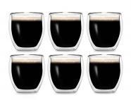 Creano 6-tlg. Set Espresso-Thermogläser 100ml, doppelwandig