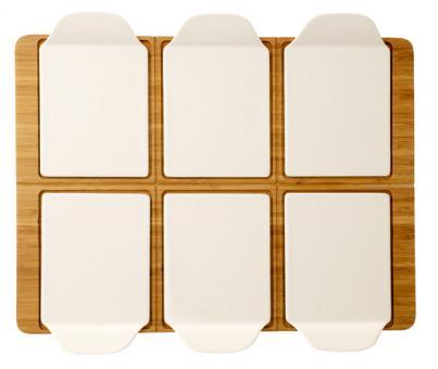 Set 7-tlg. Partyplatte rechteckig 50x38cm PIZZA PASSION Villeroy & Boch