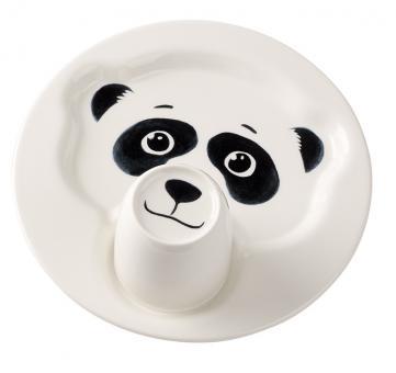Set 2-tlg. Teller mit Becher Pandabär ANIMAL FRIENDS Villeroy & Boch