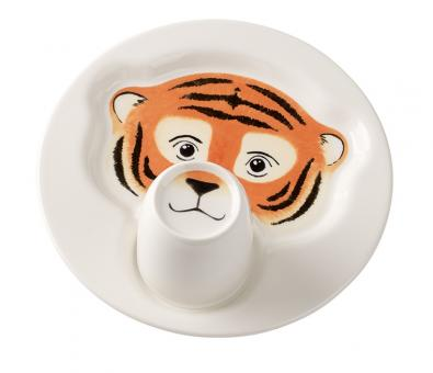 Set 2-tlg. Teller mit Becher 22cm/0,19ltr. Tiger ANIMAL FRIENDS Villeroy & Boch