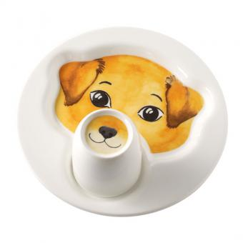 Set 2-tlg. Teller mit Becher 22cm/0,19ltr. Hund ANIMAL FRIENDS Villeroy & Boch