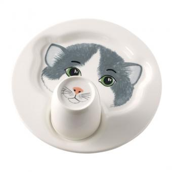 Set 2-tlg. Teller mit Becher 22cm/0,19ltr. Katze ANIMAL FRIENDS Villeroy & Boch
