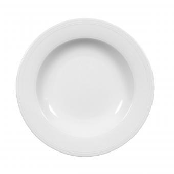 Salatteller 19 cm halbtief IMPERIAL WEISS UNI 6 Seltmann