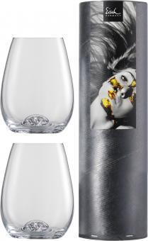 Set 2 Becher 460ml/H.112mm -in Geschenkröhre- 129/90 10 CARAT  Eisch Glas