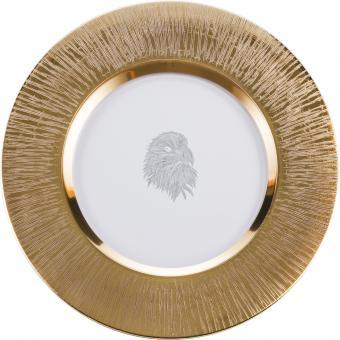 Teller flach 35cm 516/35 SILAS GOLD  Eisch Glas**1