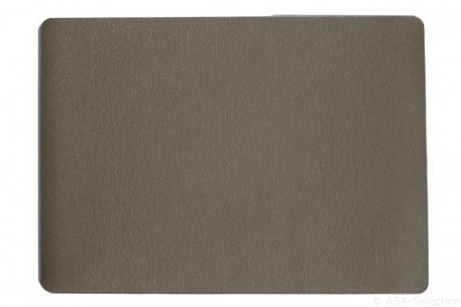 Tischset - braun - 33 x 46cm, Lederoptik fine ALVAR ASA-Selection**6