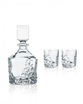 Set 3-tlg. Whisky Karaffe/Tumbler 1+2 SCULPTURE Nachtmann