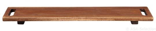 Holzboard auf Füssen 60x13cm/H.3cm Akazie massiv WOOD ASA-Selection