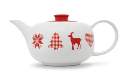 Teekanne 1,25ltr. weiß HAPPYMIX WINTERZAUBER Friesland*