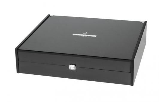 Besteckkoffer leer 46,5x35x11,2cm Holz für 12 Pers./für 72 Besteckteile Picard & Wielpütz