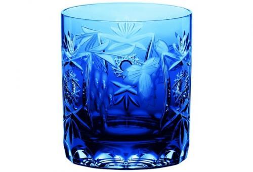 Whisky pur Wasser 250ml 9cm TRAUBE kobaltblau Nachtmann