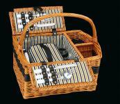 Picknick-Korb für 2 Pers. Cernobbio hellbraun cilio