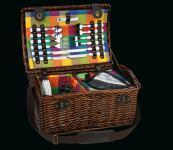 Picknick-Korb für 4 Pers. Laveno dunkelbraun cilio