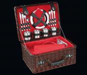 Picknick-Korb für 4 Pers. Luino dunkelbraun cilio
