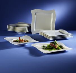 tafel set 12 tlg aktion new wave villeroy boch new. Black Bedroom Furniture Sets. Home Design Ideas