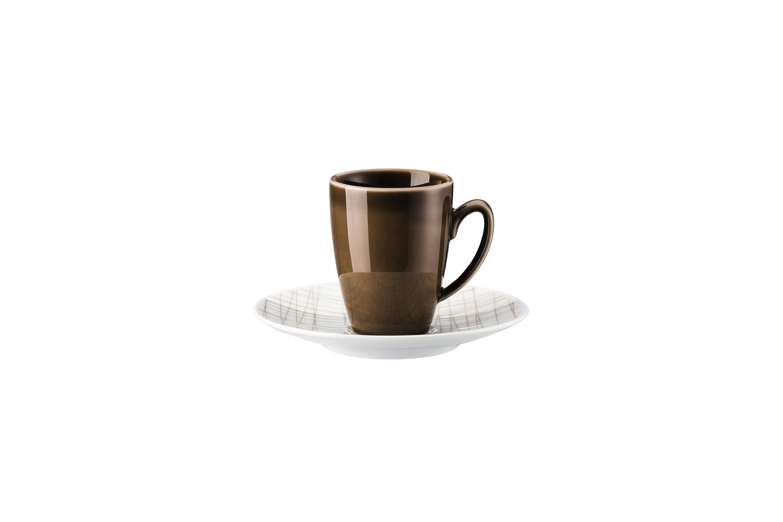 set 2 tlg espressotasse 0 08ltr 12cm mesh line walnut rosenthal mesh line. Black Bedroom Furniture Sets. Home Design Ideas