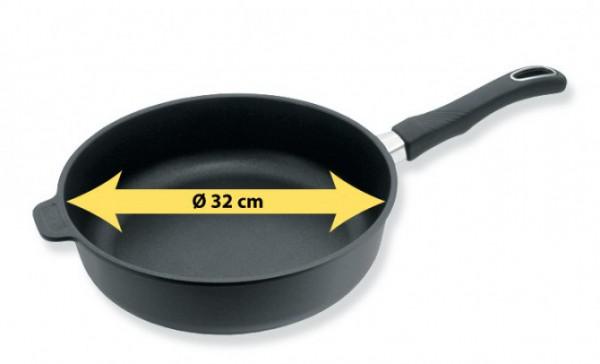 Induktions Bratpfanne 32cm ø 7cm Hoch Biotan Plus Gastrolux