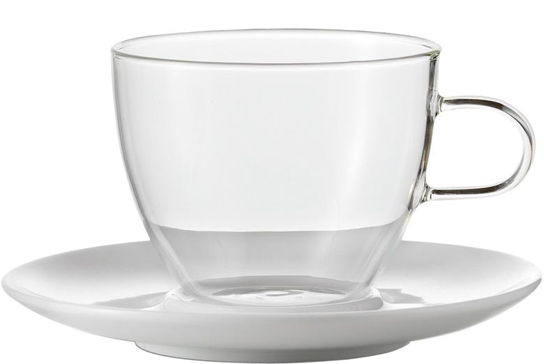 set 2 cappuccinotassen mit untertassen coffee jenaer glas coffee chocolate. Black Bedroom Furniture Sets. Home Design Ideas