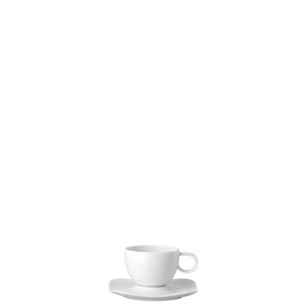 set 2 tlg espresso tasse mit untertasse 0 09ltr 10 5cm free spirit weiss. Black Bedroom Furniture Sets. Home Design Ideas