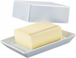 butterdose 250 gr mit transparentem deckel tric k chenfreunde weiss arzberg. Black Bedroom Furniture Sets. Home Design Ideas