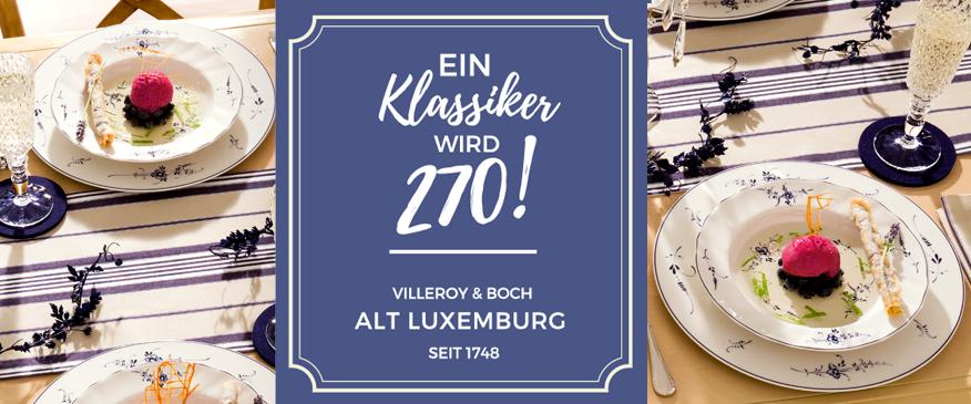 5 Dekor ALT LUXEMBUG hat 270. Geburtstag